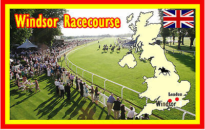 HORSE RACING (WINDSOR RACECOURSE) - FUN SOUVENIR NOVELTY FRIDGE MAGNET - GIFTS