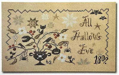 allows Eve Halloween Barbara Ana Cross Stitch Pattern (All Hallows Eve-halloween)