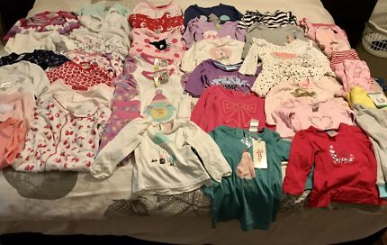HUGE BULK LOT baby girl winter clothing