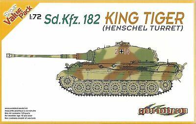 Dragon 7511 - 1/72 Sd.Kfz.182 Kingtiger Henschel Turret Cyber-Hobby Super Value