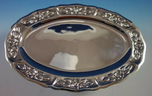 """Aztec Rose by Maciel Mexican Mexico Sterling Silver Serving Platter 13"""" (#1860)"""
