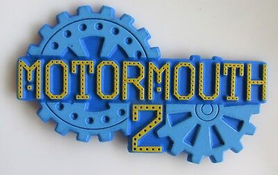 MOTORMOUTH 2 SHAPED PLASTIC PIN BADGE FROM THE 1990's CHILDRENS TV SERIES