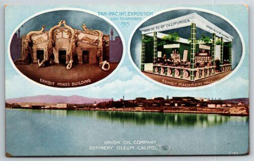 """Vintage 1915 Pan Pacific Exposition San Francisco Postcard - """"Union Oil"""""""