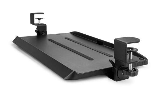 Mobotron Under-Desk Keyboard Clamp Tray with Ergonomic 3-Angle Adjustment