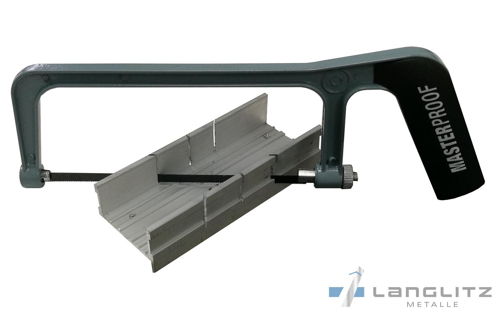 Handsäge Gehrungssäge für Aluminium 0° - 300° Bastlersäge Metall Säge Bügelsäge