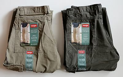 New Wrangler Men's Rip-Stop Cargo Pants Green and Khaki Colors All Sizes  Cargo Pants Green