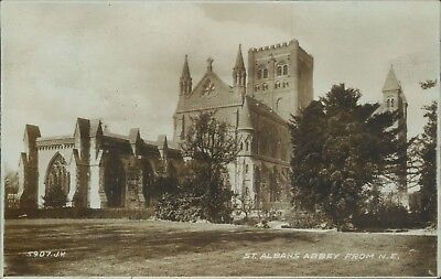 St albans abbey from north east valentine real photo