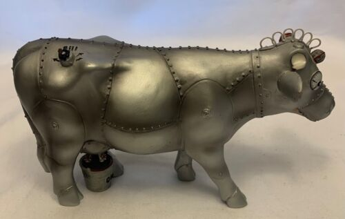 Cow Parade Cowbot #7749 Extremely Rare 2007