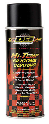 DEI 010301 HIGH TEMPERATURE EXHAUST HEADER HEAT COATING SILICONE SPRAY CAN BLACK