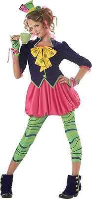 THE MAD HATTER ALICE IN WONDERLAND GIRLS TWEEN HALLOWEEN COSTUME LARGE 10-12](Mad Hatter Tween Halloween Costume)
