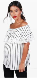 Maternity - brand new off the shoulder crochet top