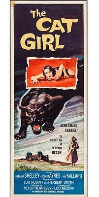"""The Cat Girl"" Movie Poster. Original. 14 X 36 Insert. Great Graphics"