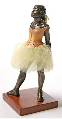 Degas Little Dancer - Degas Little Dancer of Fourteen Years Ballerina Ballet Fabric Tutu Statue 6.5H
