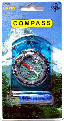 Blue Base Plate Compass Scouts Brownies hiking camping NEW HAWK PC900 J3-7