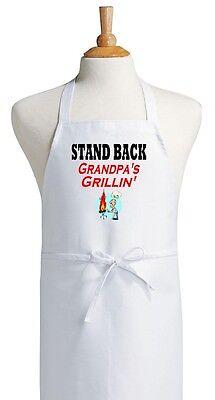 Funny Barbecue Apron Stand Back Grandpa's Grillin' Aprons Fo