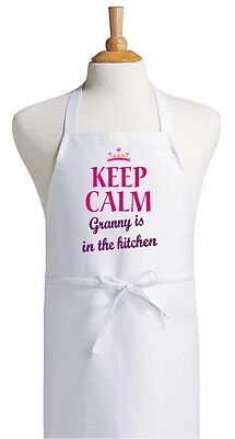 Aprons For Women Keep Calm Granny Is In The Kitchen Apron by