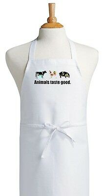Animals Taste Good Funny Barbecue Apron For Grilling and Outdoor Cooking