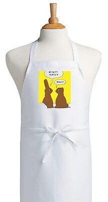 Funny Chocolate Easter Bunny Apron, Novelty Holiday Chef Apr