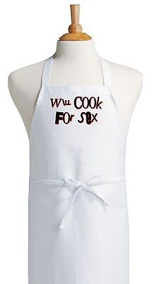 Funny Novelty Apron Will Cook For Sex Aprons With Attitude by CoolAprons