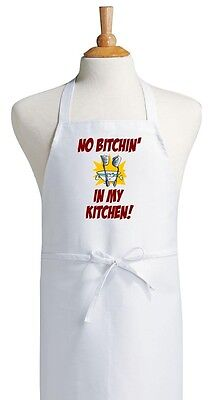 Funny Cooking Apron No Bitchin' In My Kitchen Novelty Aprons
