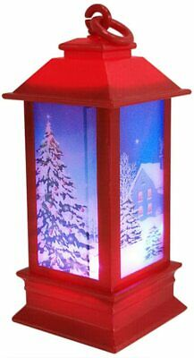 Vintage Outdoor Candle Lantern Decorative with LED Light - Christmas Candle LED