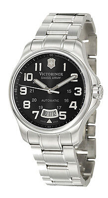 Swiss Army Catchpole's 125 Automatic Steel Mens Guard Black Dial Date 241370