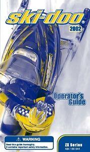 Ski-Doo owners manual book 2002 SUMMIT 600 / 700, GRAND TOURING 700 & MX-Z 700