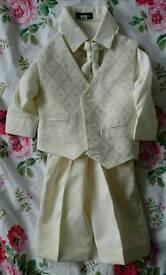 Vivaki Boys Waist Coat, Shirt, Cravat & Trousers, Size 3-6 Months.