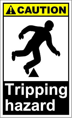 Tripping Hazard (Tripping Hazard Caution OSHA / ANSI Aluminum METAL Sign )