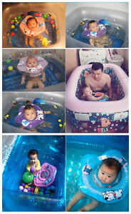 HOT-Inflatable-Adjustable-Double-Protection-Collar-Baby-Swimming-Neck-Float-Ring
