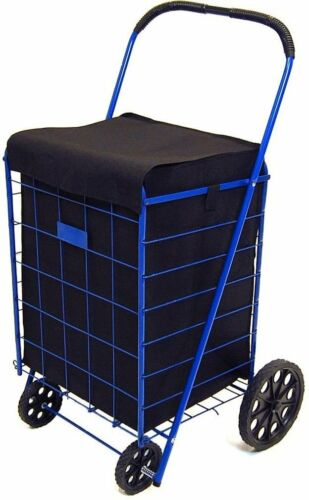 Jumbo Shopping Cart Liner Cover With Top Lid Cover (Shopping Cart Not Included)