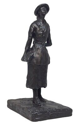 French Young School Girl Walking 19th Century Clothes Statue by Degas 7H