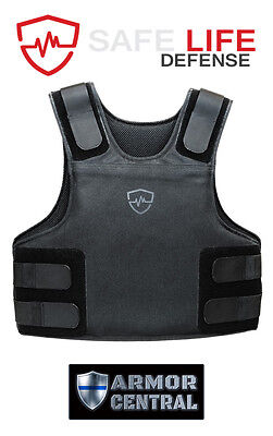 Safe Life Defense Level IIIA Body Armor Multi-Threat Bullet Proof Vest - X-Large