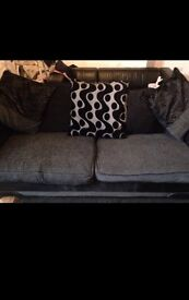 Large sofa black and grey