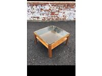 danish inspired glass coffee table - myer? - smoked glass - vintage - STILL AVAILABLE - somerset