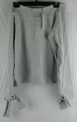 Stolen Hearts Womens Grey Long Sleeve Off Shoulder Athlectic Top Size Medium
