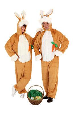 Hasenkostüm Osterhase Bunny braun mit Karotte - Maskottchen Laufkostüm - Bunny Maskottchen Kostüm