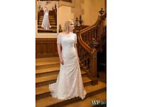 Plus Size White Rose Wedding Dress from current collection