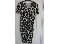 People Tree organic cotton, fair-trade, black and white dress.Size 12. Only worn twice!