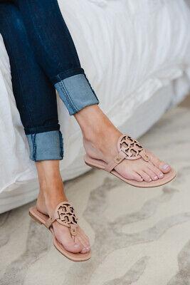 #-359-Tory Burch 'Miller' Flip Flop  Leather (Women) Sz 9 1/2 M