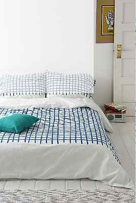 Urban Outfitters Assembly Home Hand-Drawn Grid Duvet Cover
