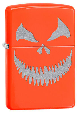 Zippo Custom Lighter Scary Halloween Jack O Lantern Evil Smile PumpkinEXTRA EXTR](Halloween Jack O Lantern Tradition)