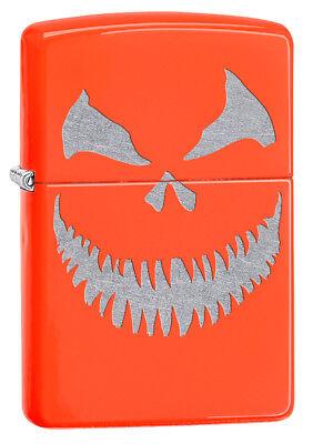 Zippo Custom Lighter Scary Halloween Jack O Lantern Evil Smile PumpkinEXTRA - Evil Smile Halloween
