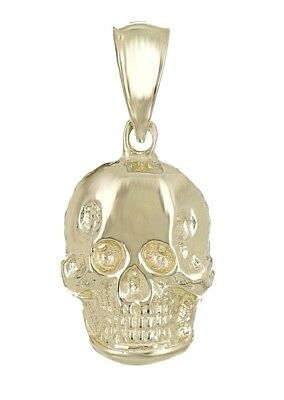 14k Yellow Gold Solid Small Skull Charm Pendant 1.4g - Gold Skull Charm