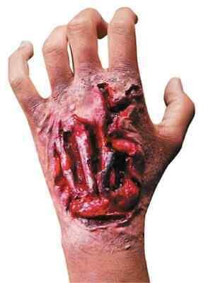 Hand Wound Halloween (Torn Up Hand Gash Wound Fancy Dress Halloween Costume Makeup Latex)