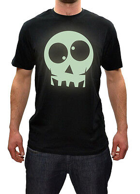 Mens scary HALLOWEEN Glow-in-the-Dark Skull T-shirt Colours NEW S-XXL ()