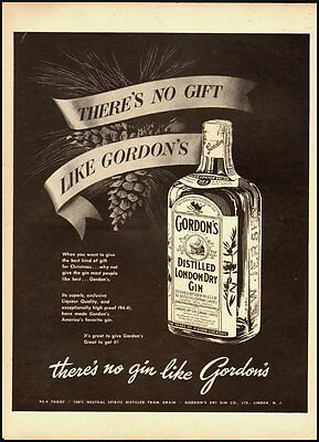 Vintage ad for Gordon's  Distilled London Dry Gin/Christmas ad (111312)
