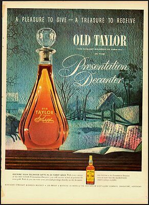 1954 Vintage ad for OLD TAYLOR Whiskey in Presentation Decanter (051312)