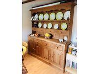 Large solid wood dresser/plate rack