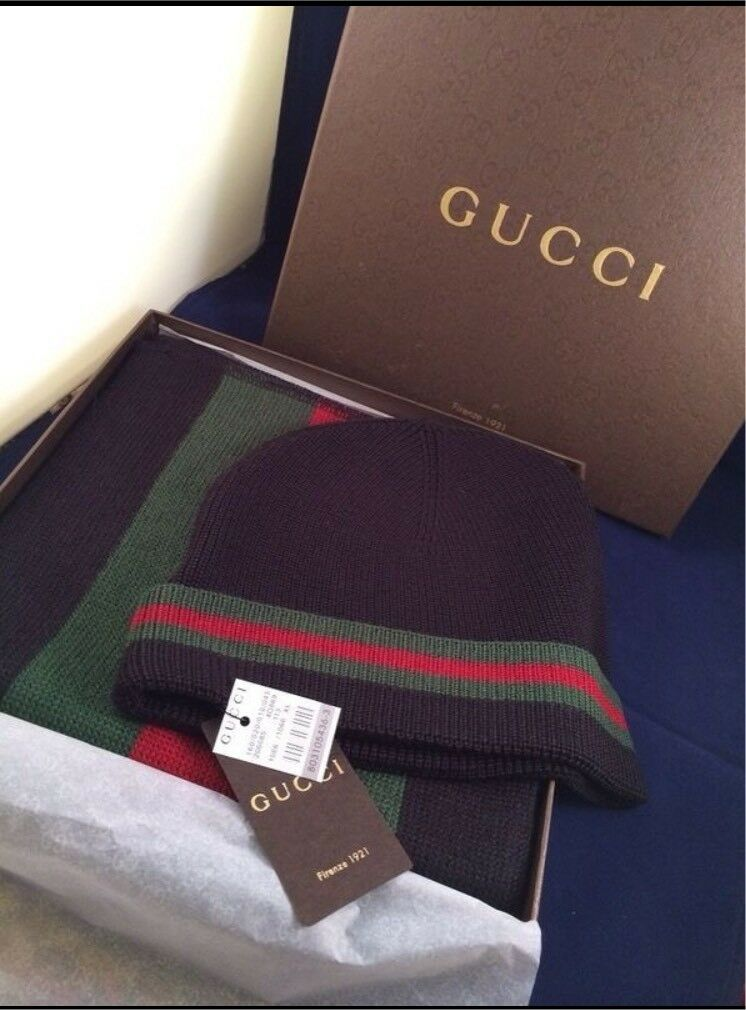 Gucci Beanie and scarf set brand new boxed not Nike fendi Lv prada off-white f51945be554